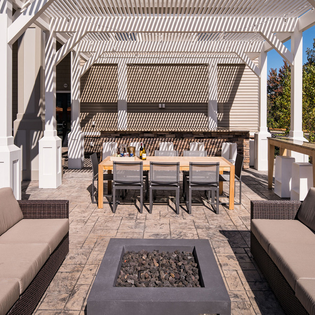 The Mark - Outdoor Lounge with Fire Pit & Community Grills and Gazebo